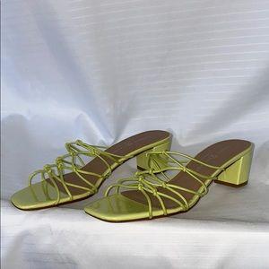 Tie detail NWOT slip on sandals